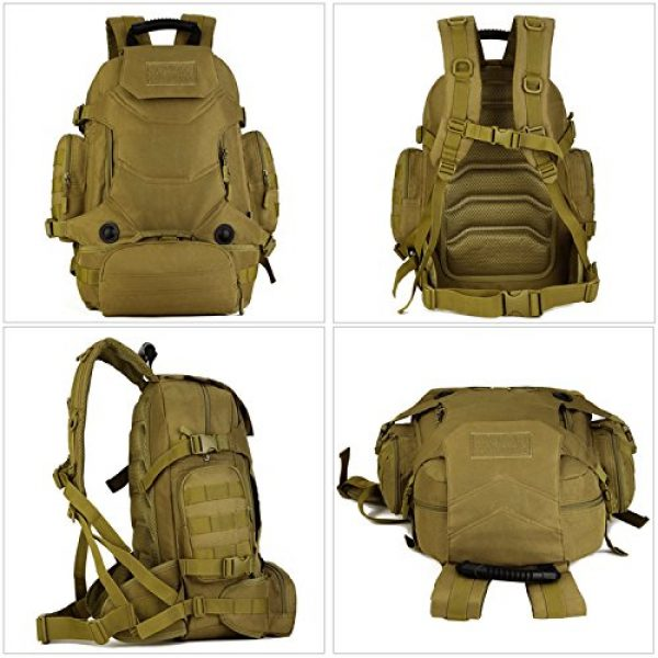 Huntvp Tactical Backpack 7 Huntvp 40L Tactical Military MOLLE Backpack WR 3 Way Modular Pack with Patch