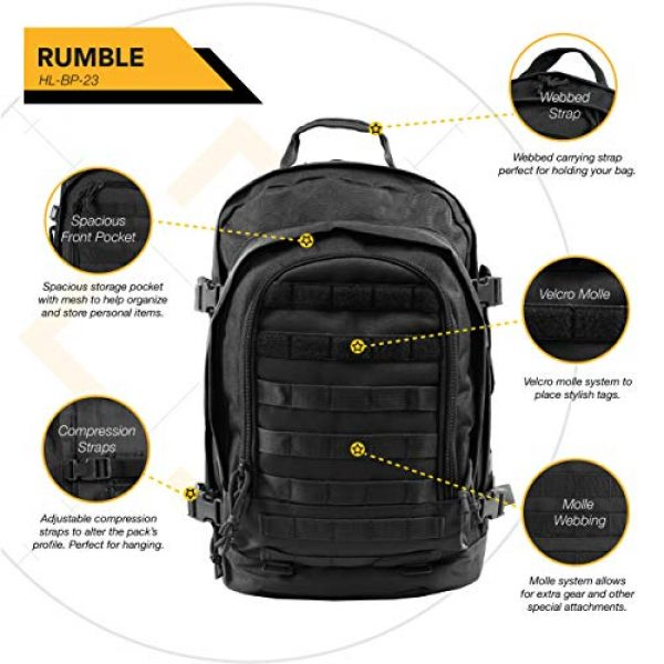 HIGHLAND TACTICAL Tactical Backpack 5 HIGHLAND TACTICAL Rumble