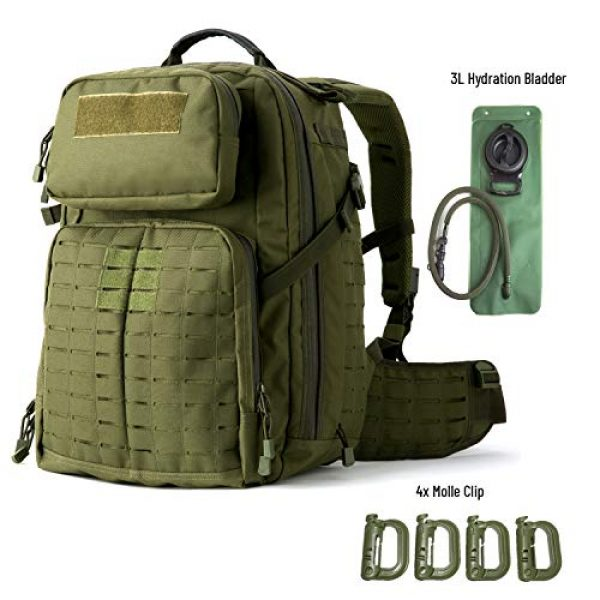 MT Tactical Backpack 2 MT Adventure 48H Military Rucksack MOLLE Tactical Assault Hydration Backpack