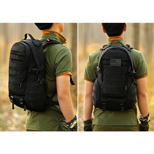 ArcEnCiel Tactical Backpack 7 ArcEnCiel Tactical Backpack Military Army Day Assault Pack Molle Bag with Patch - Rain Cover Included