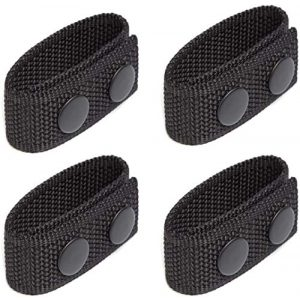 """Neust Tactical Belt 1 Security Tactical Duty Belt Keeper with Double Snaps for 2"""" Wide Belt Police Military Equipment Accessories Super Strong Duty Belt Keepers (Set of 4)"""