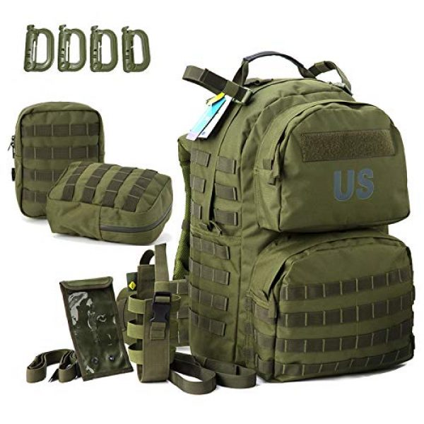 Akmax.cn Tactical Backpack 2 Military Army Backpack, MOLLE 2 Medium Rucksack with Removeable Shoulder Straps and Wasit Belt, Internal Frame