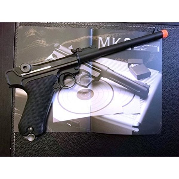 WE Airsoft Pistol 1 gbb-408l - WE full metal semi auto gas blowback pistol with free target trip tent and safety shooting glasses(Airsoft Gun)