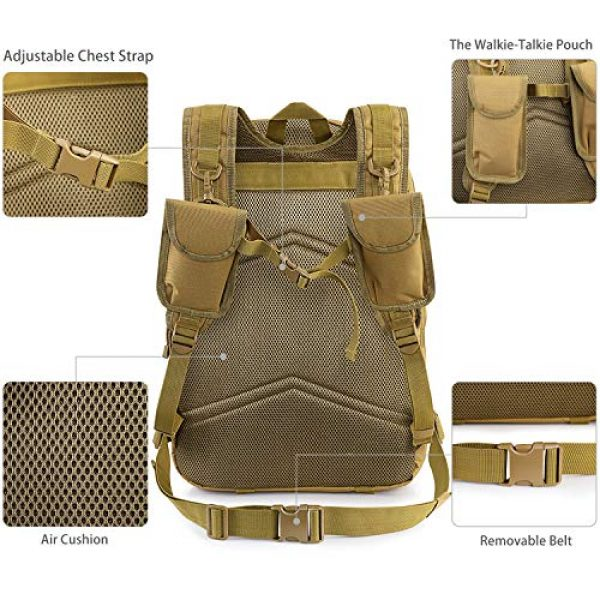 G4Free Tactical Backpack 5 G4Free Expandable Tactical Backpack Military Shoulder Pack 45L-50L Army Molle 3 Day Assault Rucksack