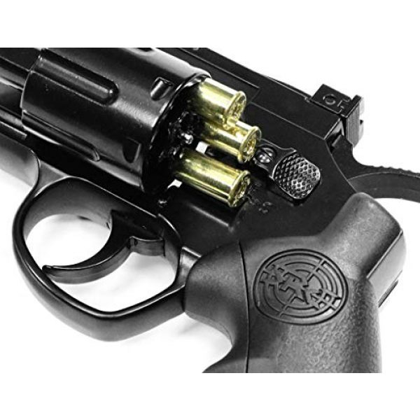 SRC Airsoft Pistol 2 SRC 2.5 INCH Barrel Titan CO2 Gas Airsoft GBB Cowboy Metal Revolver (Black)