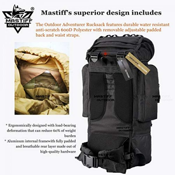 Mastiff Outdoor Tactical Backpack 4 Mastiff Outdoor Adventure Rucksack MOLLE Hiking Camping Gear Travel Survival Functional Backpack