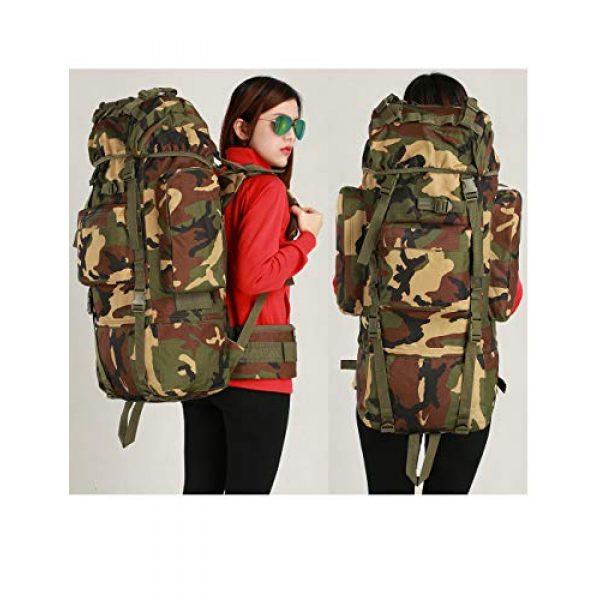 Suoki Tactical Backpack 6 Molle Backpack 65L Waterproof Internal-Frame Hiking Camping Rucksacks With Rain Cover