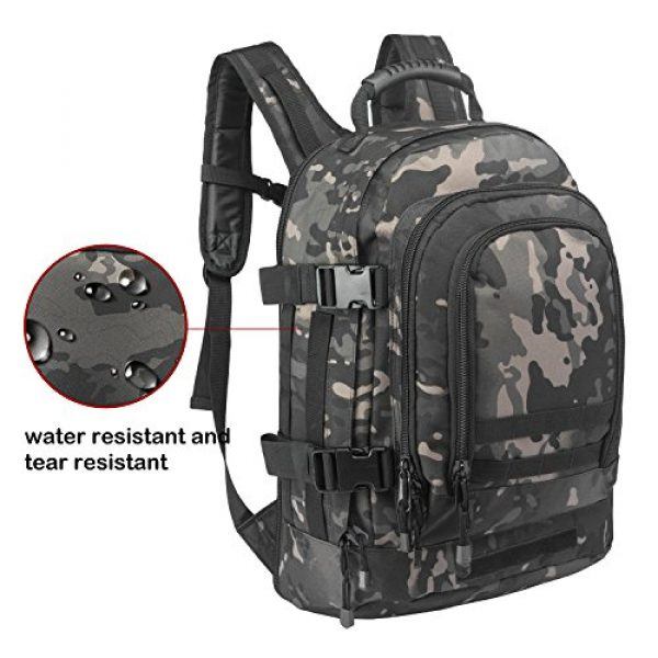ARMYCAMO Tactical Backpack 3 ARMYCAMO Expandable Backpack 39L-64L Large Military Tactical Bug Out Bag Daypack