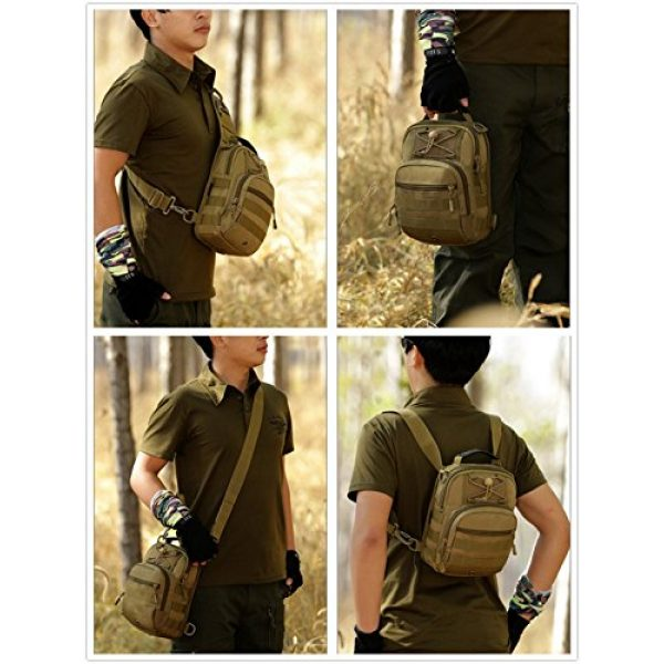 Protector Plus Tactical Backpack 7 UNISTRENGH Tactical Sling Chest Pack Large MOLLE Crossbody Shoulder Bags Gear Duty Daypack