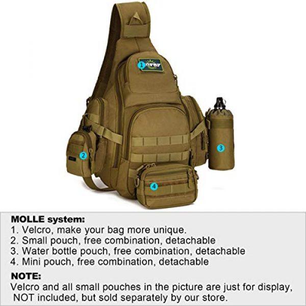 Huntvp Tactical Backpack 4 Huntvp Tactical Sling Backpack Military Daypack Molle Chest Shoulder Bag