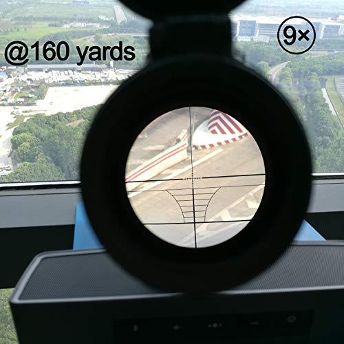 "Sutekus Rifle Scope 7 Sutekus Tactical Scope 3-9x40 Rangefinder Red & Green Illuminated Optics Reticle Crosshair Scope with 0.79""(20mm) Free Mounts"