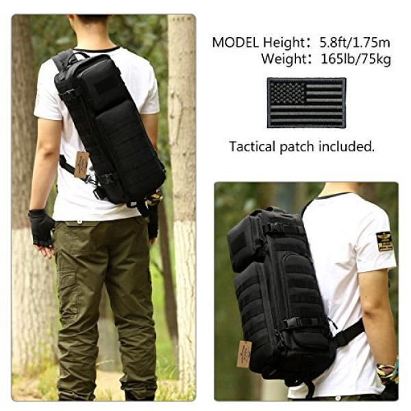 ArcEnCiel Tactical Backpack 2 ArcEnCiel Tactical Sling Pack Military Molle Chest Crossbody Shoulder Bags With Patch