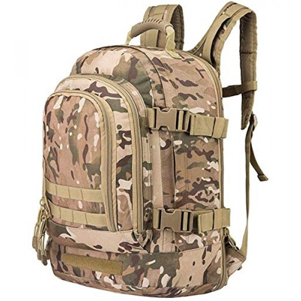 Scorpion Tactics Tactical Backpack 1 Scorpion Tactics Expandable Outdoor Large Backpack Tactical Backpack Army Assault Rucksack Pack Bug Out Bag TAN ST-LAB202006