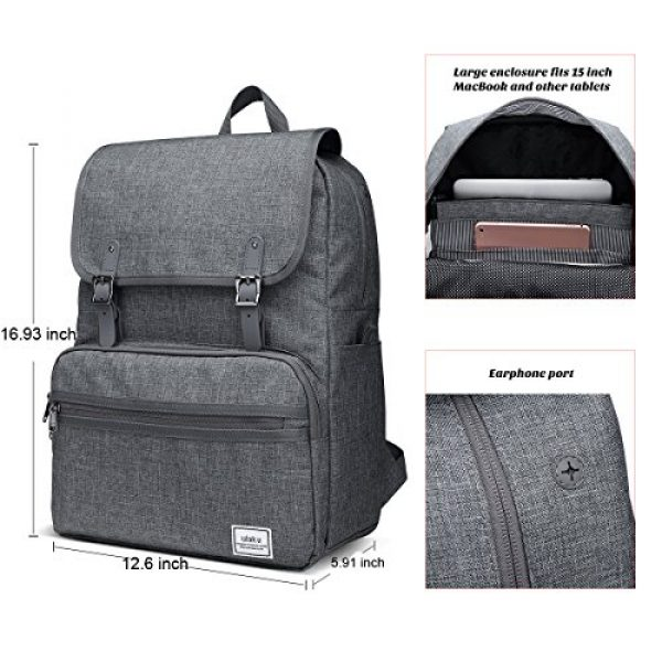 ULAK Tactical Backpack 2 ULAK Mini Backpack Lightweight Rucksack Slim Anti Theft Computer Bag