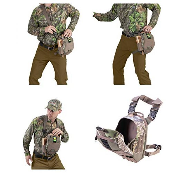 Allen Company Tactical Backpack 5 Allen Company Shocker Cut-N-Run Turkey Hunting Pack - 3in1 Functionality: Thigh Pack, Sling Pack, Chest Pack - Multi Functional -9 Features, Camo 19170 One Size