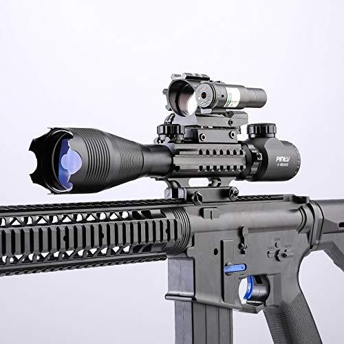 Letra Rifle Scope 3 Letra 4-in-1 4-16x50 EG Riflescope Kit, Dot Laser, Reflex Sight, Offset Rail Mount
