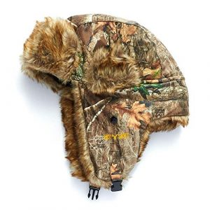 "HOT SHOT Tactical Hat 1 HOT SHOT Men's Camo Sabre Trapper Hat "" Realtree Edge Outdoor Hunting Camouflage Gear"