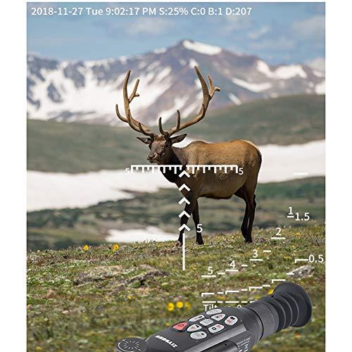DJym Rifle Scope 4 DJym GPS HD High-Powered Night Vision Monocular, Zoom Digital Video Camera for Outdoor Hunting Rangefinder