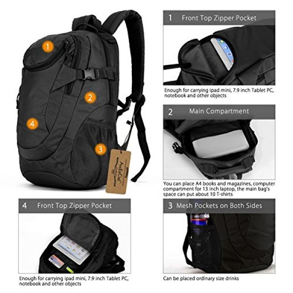 ArcEnCiel Tactical Backpack 4 ArcEnCiel Motorcycle Backpack Tactical Military Bag Army Assault Pack - Rain Cover Included
