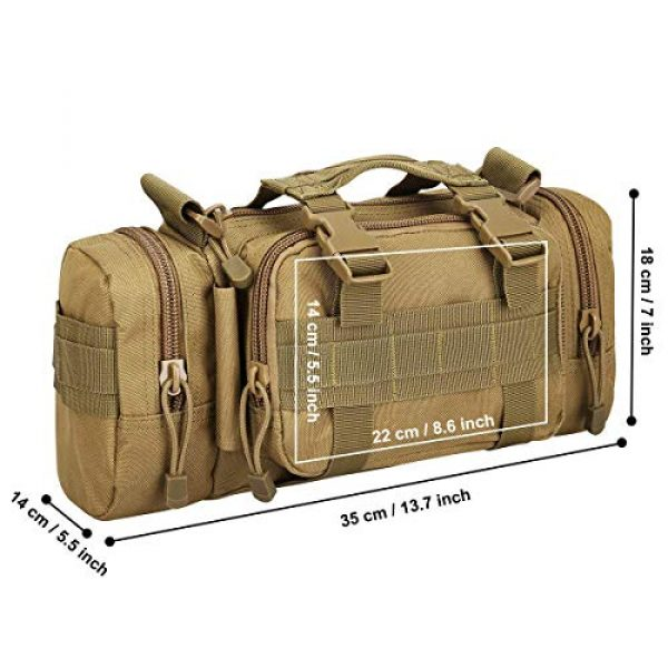 FAMI Tactical Backpack 4 FAMI Fanny 3P Military Tactical Pouch Backpack Range Bags Molle attachments Pouch Small EDC Sling Pack Hand Carry Bag