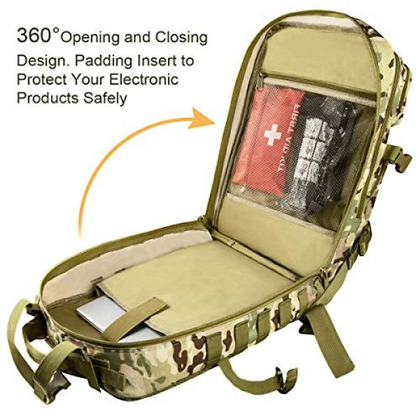 CVLIFE Tactical Backpack 4 CVLIFE Military Tactical Backpack Army 3 Day Assault Pack Molle Bag EDC Rucksack