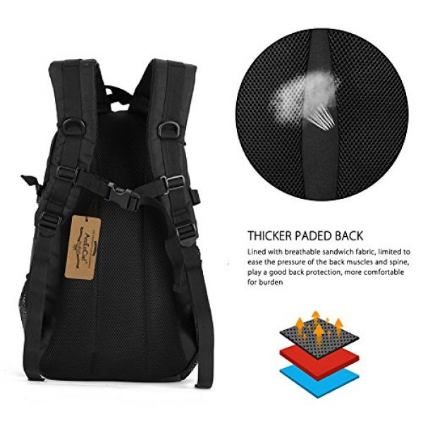 ArcEnCiel Tactical Backpack 3 ArcEnCiel Motorcycle Backpack Tactical Military Bag Army Assault Pack - Rain Cover Included