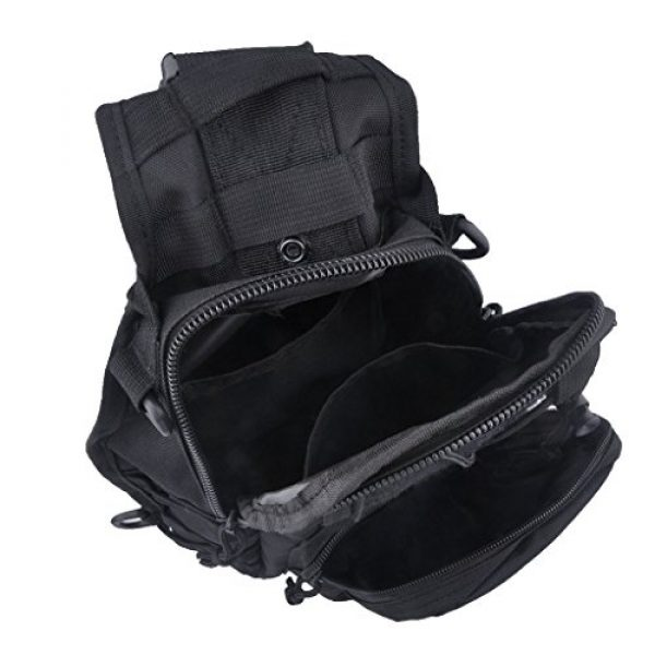 Qcute Tactical Backpack 4 Qcute Tactical Bag, Single Shoulder Messenger Bag, Chest Bag, Casual Office Tactical Satchel, Small Tool Backpak, Bag Which is Suitable for Carrying ipad, Smart Phone, Wallet and Daily Necessities