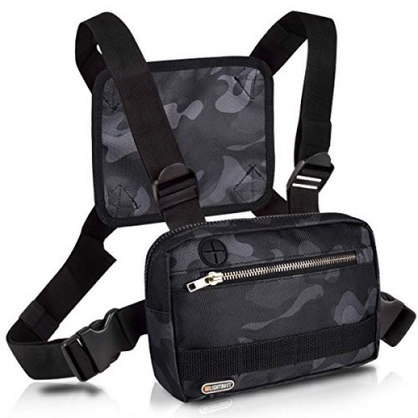 LIGHT DUST Tactical Backpack 3 LIGHT DUST Outdoor Sports Chest Bag,Tactical Chest Bag, Men's and Women's Equipment. Leisure Running, Hiking