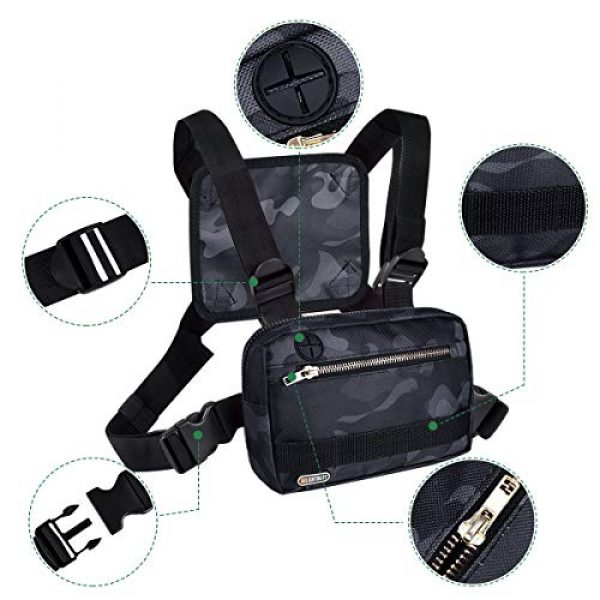 LIGHT DUST Tactical Backpack 2 LIGHT DUST Outdoor Sports Chest Bag,Tactical Chest Bag, Men's and Women's Equipment. Leisure Running, Hiking
