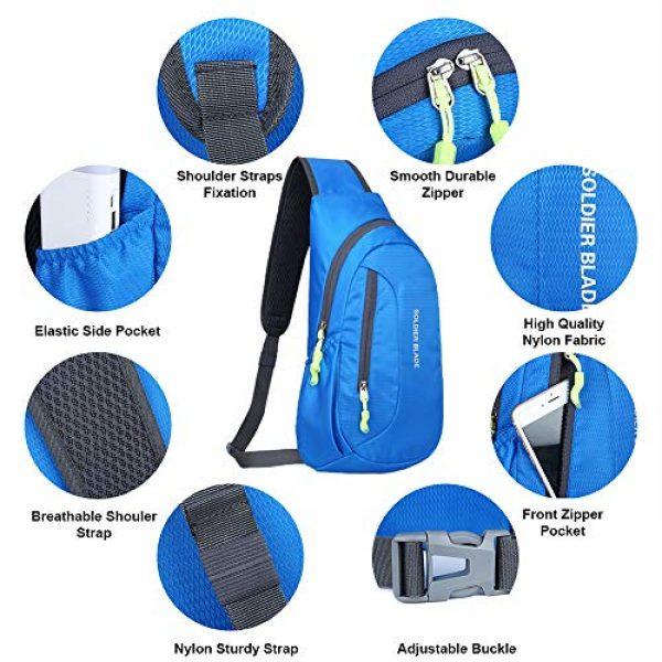 Peicees Tactical Backpack 2 Peicees Sling Backpack Shoulder Chest Crossbody Bag Purse Lightweight Waterproof Daypack for Men Women