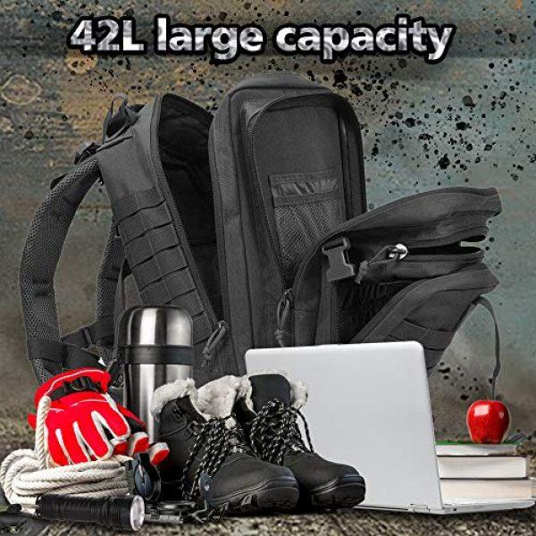 EMDMAK Tactical Backpack 2 EMDMAK Military Tactical Backpack, 42L Large Military Pack Army 3 Day Assault Pack Molle Bag Rucksack for Outdoor Hiking Camping Hunting