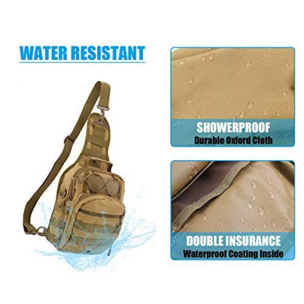 Gisdanchz Tactical Backpack 5 Gisdanchz Outdoor Tactical Molle Bag Military Backpack Sling Crossbody Shoulder Bags for Men Women