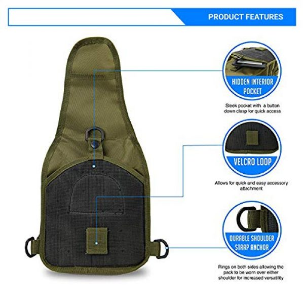 Rootless Tactical Backpack 4 Rootless Tactical MOLLE Military Sling Daypack - Small Messenger Bag