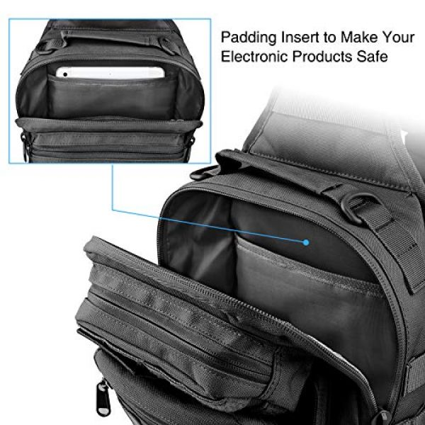 CVLIFE Tactical Backpack 3 CVLIFE Tactical Sling Bag Pack Military Rover Shoulder Sling Backpack Molle Range Bag EDC Small Day Pack with Padding Pocket