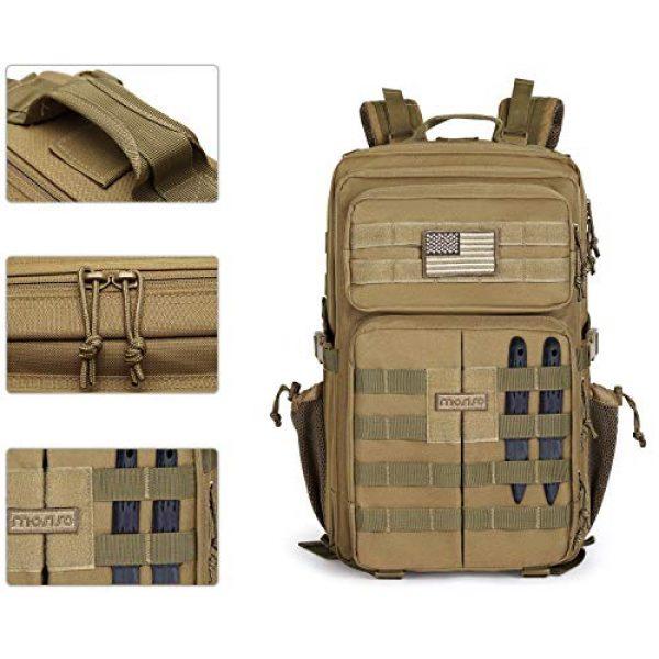 MOSISO Tactical Backpack 4 MOSISO Tactical Backpack, 40L 2-Layer Molle Rucksack Daypack Shoulder Bag