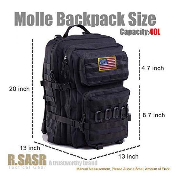 R.SASR Tactical Backpack 3 Upgrade Tactical Military Molle Backpack Army Waterproof Backpack.