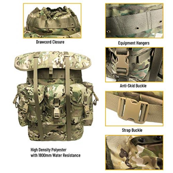 MT Tactical Backpack 4 Military Rucksack Alice Pack Army Backpack and Butt Pack