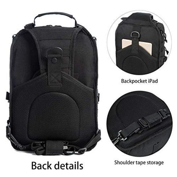 J.CARP Tactical Backpack 5 J.CARP Tactical EDC Sling Bag Pack, Military Rover Shoulder Molle Backpack, with USA Flag Patch