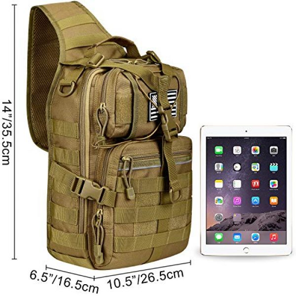 G4Free Tactical Backpack 2 G4Free Tactical Sling Backpack Big Molle EDC Assault Range Bag Pack Military Style for Concealed Carry