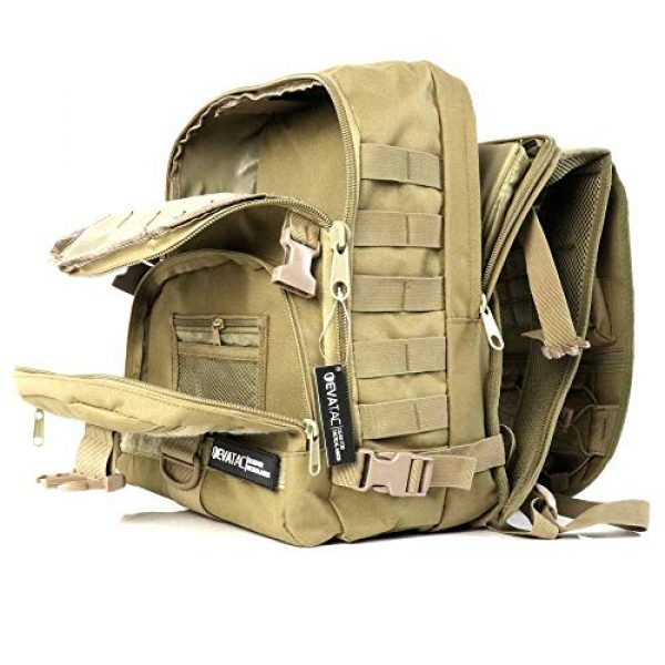 Evatac Tactical Backpack 3 Evatac Tactical Backpack for Military Combat | Large Size Khaki 35L 600D Molle Bug Out Bag Or Every Day Travel Back Pack.