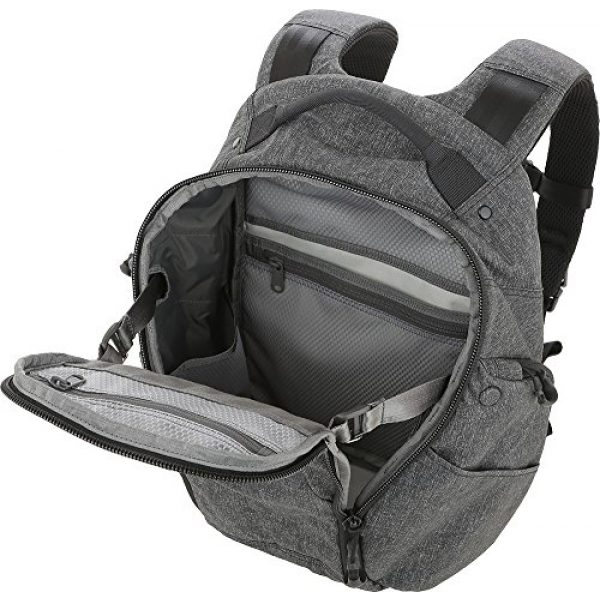 Maxpedition Tactical Backpack 3 Entity 21 CCW-Enabled EDC Backpack 21L (Charcoal)