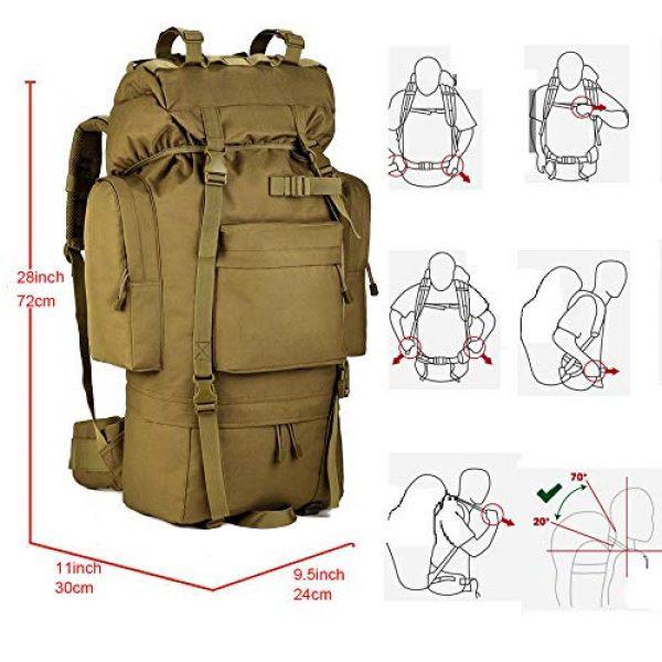 Suoki Tactical Backpack 2 Molle Backpack 65L Waterproof Internal-Frame Hiking Camping Rucksacks With Rain Cover
