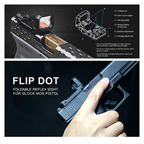 Without Rifle Scope 4 Toy Gun Sight Red dot Sight Magnification Flip red dot Sight Reflex Sight RMR Scope Holder, Used for MOS or Sliding Cut Accept RMR Pistola 1913 Assembly Scope (Color : Tan and 1913 Mount)