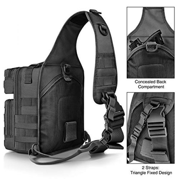 CVLIFE Tactical Backpack 6 CVLIFE Tactical Sling Bag Pack Military Rover Shoulder Sling Backpack Molle Range Bag EDC Small Day Pack with Padding Pocket