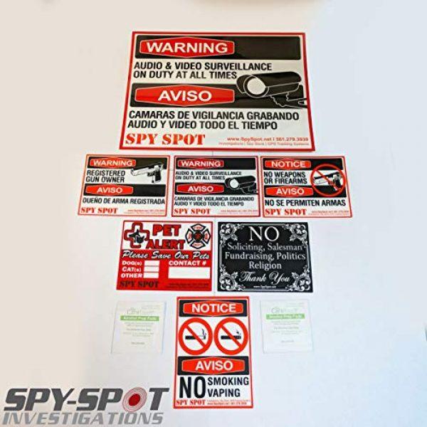 "Spy Spot Gun Owner Sticker 4 Spy Spot 6 Pack Registered Gun Owner Sticker Decal Vinyl Door or Window 4"" x 3"" UV Resistant Weatherproof"