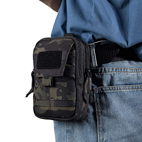 EXCELLENT ELITE SPANKER  7 EXCELLENT ELITE SPANKER Tactical Molle EDC Pouch Nylon Belt Waist Bag Camping Hiking Organizer with Cellphone Holster for iPhone 12Pro 12 11ProMax XsMax XR XS X 8Plus 8 7 6 Samsung Galaxy Note 9 S9