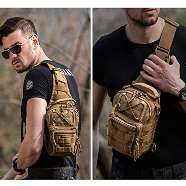 FAMI Tactical Backpack 6 FAMI Outdoor Tactical Bag Backpack, Military Sport Bag Pack Sling Shoulder Backpack Tactical Satchel for Every Day Carry