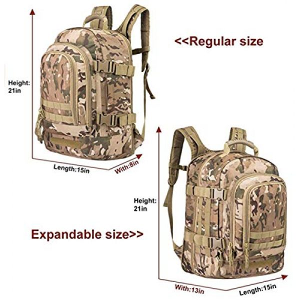 Scorpion Tactics Tactical Backpack 3 Scorpion Tactics Expandable Outdoor Large Backpack Tactical Backpack Army Assault Rucksack Pack Bug Out Bag TAN ST-LAB202006