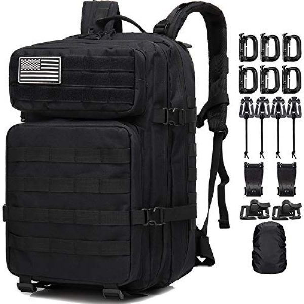 Createy Tactical Backpack 1 Createy Military Tactical Backpack, Large Army 3 Day Assault Pack 45L Molle Bag Rucksack Bug Out Bag Daypacks with Molle System for Camping Hunting Hiking Traveling
