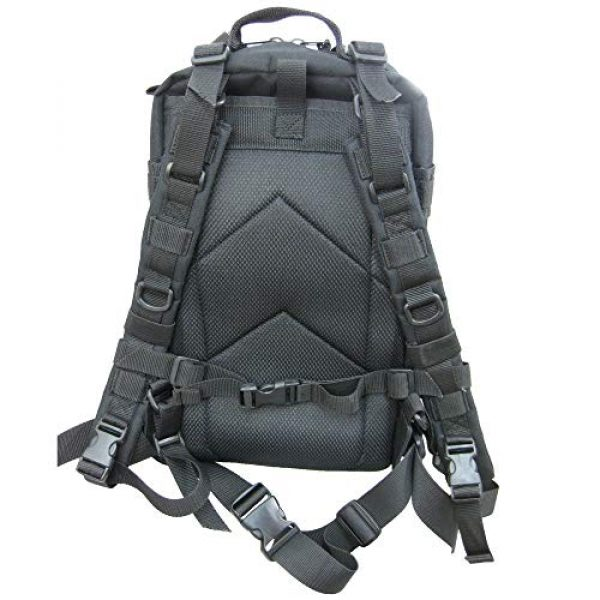 Flying Circle Tactical Backpack 3 Presidio Tactical Assault Backpack - Military Approved Compact Backpack Made of Water Resistant 900 Denier Polyester - Good from School to Combat - Features Large Center Pocket & MOLLE Webbing [Black]